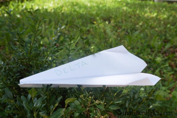 Avion od papira: Delta