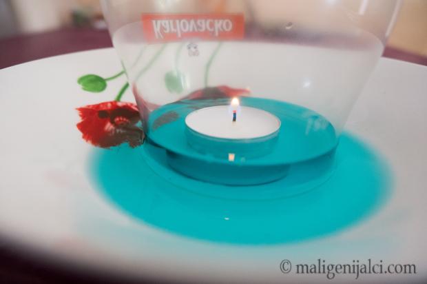 Eksperiment sa svijećom i vodom