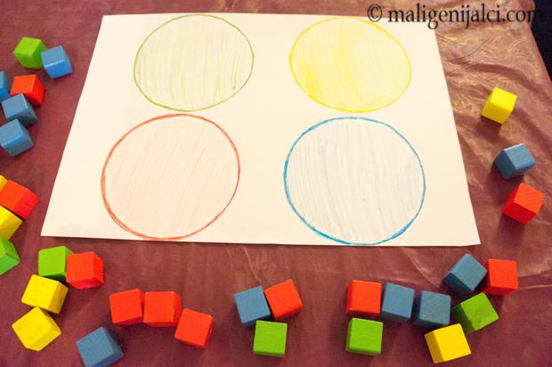 Učim boje s kockicama