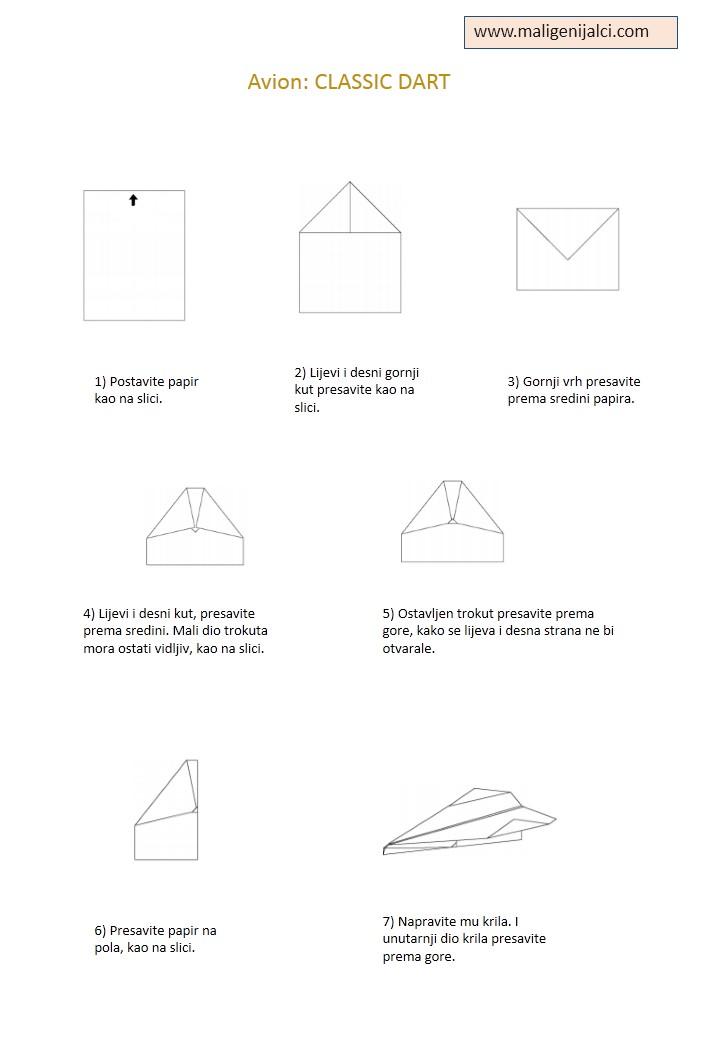 avion od papira